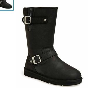 bead50ce8ef UGG Australia Sutter Black leather boots sz 7